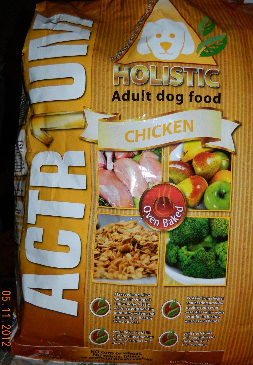 Actrium Puppy Dog Holistic Dog Food Canada